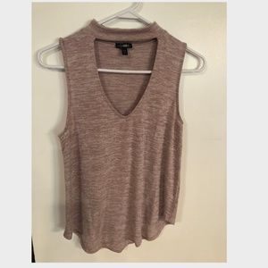 Mauve Express Tank w/ V-shaped Cut-out